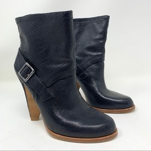 Belle by Sigerson Morrison Black Buckle Ankle Boot